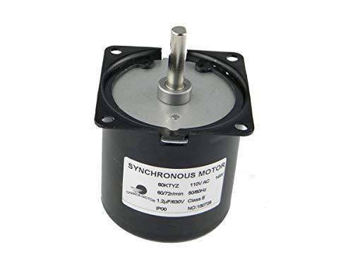 - CHANCS 60KTYZ AC Synchronous Syn Motor 110V 60/72RPM CW/CCW 14W Low Noise Electric Motor