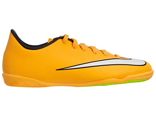 Nike Junior Mercurial Victory V IC Yellow/Black/White/Green Size 3 M US (Nike Yellow And Orange Shoes)