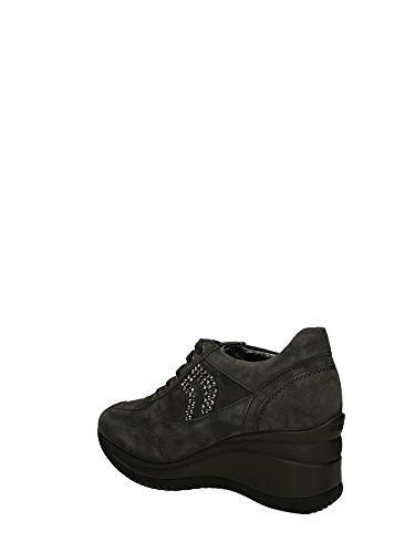 Femme Gris Geox Baskets Pour Grigio 4qw47p0E