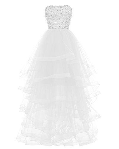 Ivory Strapless Tiered Dress - 3
