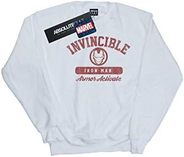 Marvel Herren Iron Man Activate Sweatshirt Weiß XXXXX-Large