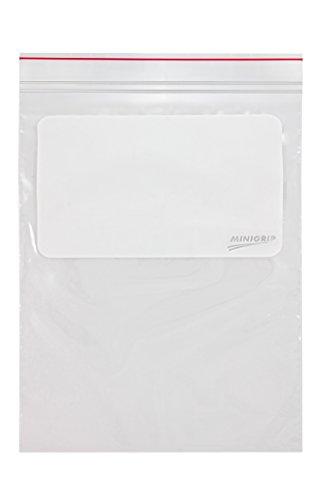 (Minigrip Red Line MGRL2W0912 Polyethylene (LDPE/LLDPE Blend) Clear Reclosable Bag, 12