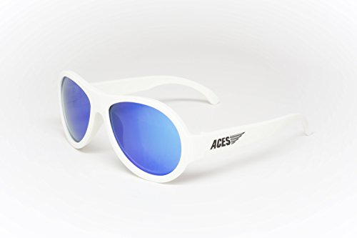 Aces - Fueled by Babiators Aviator sunglasses, Wicked White with Blue - Sunglasses Amped