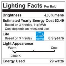 12 G16.5 Shape .9 Year Life -60267 Standard Base 430 Lumens Set of 12 GE Halogen 29 Watt