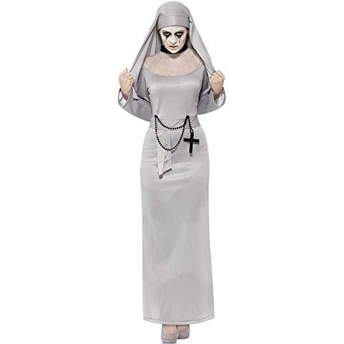 Ambiguity Halloween Costumes Women Cosplay Vampire Priest Horror Zombie Nun Costume Prom Costume -