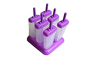 Poplicious Ice Pop Popsicle Mold - Set of 6, Purple