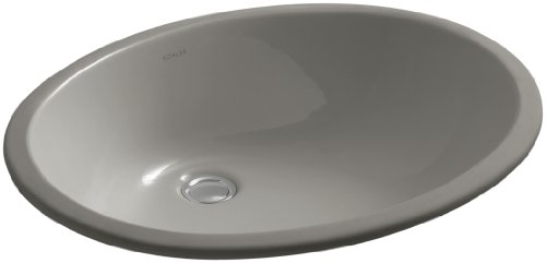 KOHLER K-2211-K4 Caxton Undermount Bathroom Sink with Overflow and Clamp Assembly, Cashemere