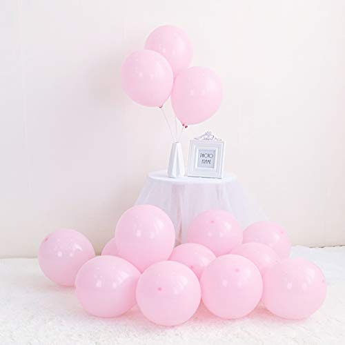 LOKMAN 100Pcs Macaron Pink Party Balloons for Wedding, Baby Shower, Girls Birthday Party Decoration. 10 Inch (Pink)]()