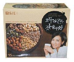 [HEALTH TEA] Korea Food Walnut Almond Job's Tears Tea 18g X 15t 호두 아몬드 유무차 by DAMTUR