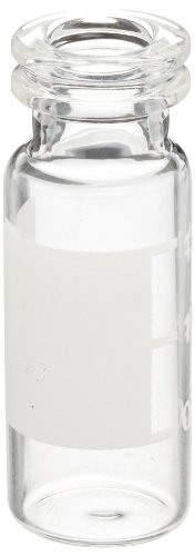 National Scientific Clear Glass I-D Target Snap-It 11mm Crimp/Snap Vials with Flat Base, 2ml Capacity (Case of 2000) by National Scientific