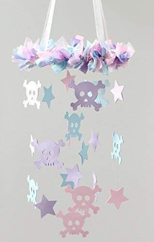 Skull & Cross Bones Nursery Ceiling Mobile- SMALL SIZE