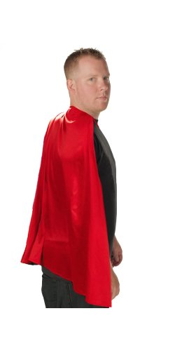 [Superhero Adult Costume Cape (Red)] (Quality Superhero Costumes)