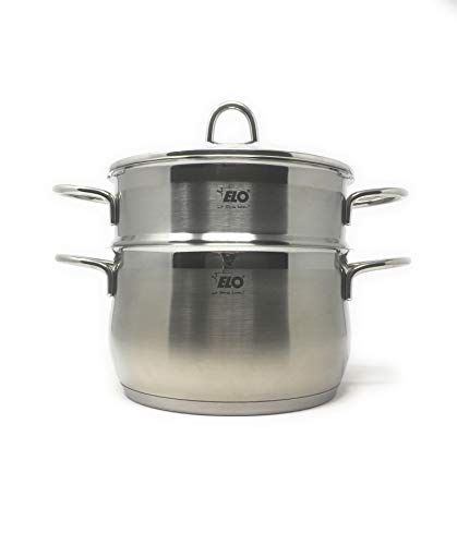 (ELO Germany Platin Stainless Steel Induction 3 Piece Steamer Set)