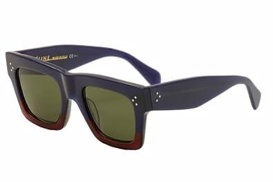 527531a39a670 Amazon.com  Celine 41054 S Sunglasses-0FV7 Blue Burgundy (1E Green ...