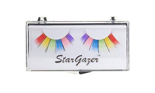 Colored False Eyelashes (Stargazer Reusable False Eyelashes Multi Coloured Rainbow #9)