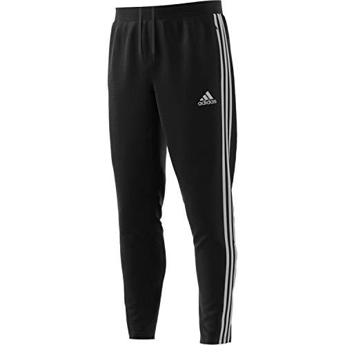 adidas Mens Tiro 19 Training Soccer Pants, Small, Black/Reflective Silver