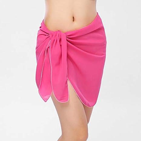 LHSTWQU 10 Colores Traje de baño de Las Mujeres Falda de Playa ...