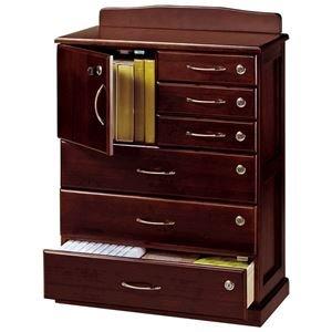 リビングチェスト 「全段鍵付き家具シリーズ」 木製 幅62cm×奥行32cm×高さ85cm B075BN4H46