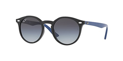 Ray-Ban Junior Kids' Injected Unisex Round Sunglasses, Black, 44 - Glasses Best Ban Ray