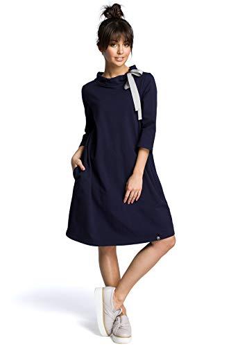 Bindung mit Kleid Marineblau am Einer Clea Hals qgUTv