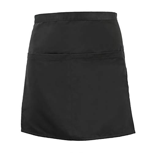 Surblue Unisex Waist Apron with 4 Pockets Restaurant Short Bistro Half Aprons Kitchen Cooking for Men Women by Surblue