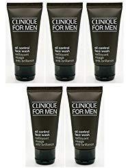 Lot OF 5X CLINIQUE for men Men Oil Control Face Wash 1.7oz each total 8.5oz (Best Oil Control Moisturiser)