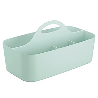 InterDesign Clarity Bath Tote for Shampoo, Conditioner, Beauty Products, Cosmetics - Small, Mint