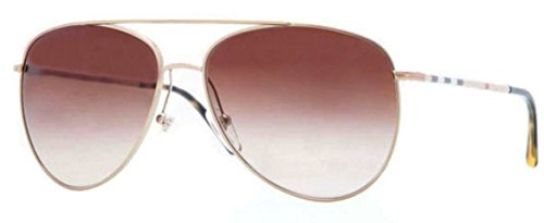 Burberry BE3072 Sunglasses 118913-57 - Gold Frame, Brown Gradient