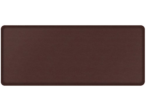 "GelPro Classic Anti-Fatigue Kitchen Comfort Chef Floor Mat, 20x48"", Vintage Leather Rustic Sherry Stain Resistant Surface with 1/2"" Gel Core for Health and Wellness by GelPro"