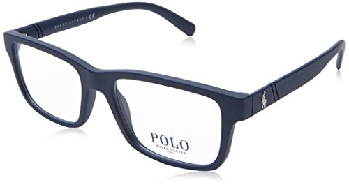Polo Ralph Lauren PH 2176 5620 Matte Blue Plastic Rectangle Eyeglasses ()