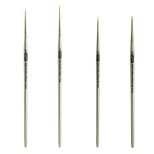 Golden Taklon Detail Brush Set Liners 20/0, 10/0 and Mini Liners 10/0, 5/0 (Golden Taklon Detail Brushes compare prices)