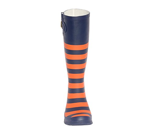 Dark I Rainboots Lillybee Initial Orange U Blue and 6vAnx0