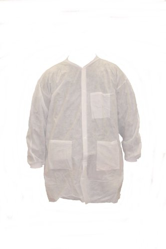 Malt ProMax II Lab Coat, Knit Wrist/Collar, 3 Pocket, Snap Buttons, XL, Case of 30
