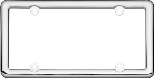 Black Plastic Cruiser Accessories 20640 Nouveau License Plate Frame