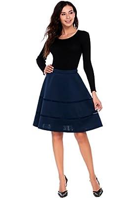 Zeagoo Basic Versatile Flared Skater Skirt Pleated Skirt S/M/L/ XL