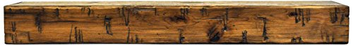 Dogberry Collections Rustic Mantel Shelf, Aged Oak, 72