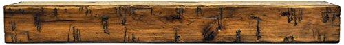 Oak Mantel - Dogberry Collections Rustic Mantel Shelf, Aged Oak, 72