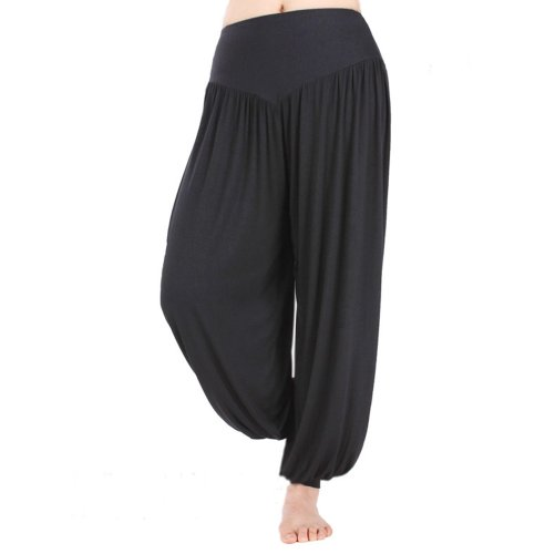 HOEREV Brand Super Soft Modal Spandex Harem Yoga/ Pilates Pants