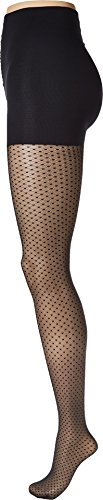 (Wolford Dots Control Top Tights (14632) S/Black)
