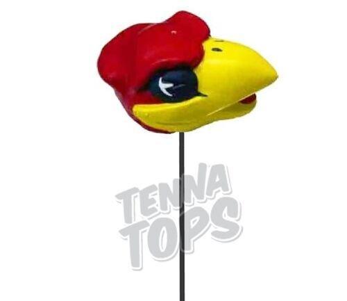 KU Kansas Jayhawks Mascot Car Antenna Topper + Yellow Smiley Antenna Topper Tenna Tops TTDaleSr