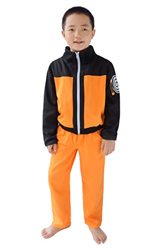 DAZCOS Kids Size Boys Anime Uzumaki Childhood Cosplay Costume (Child M) -