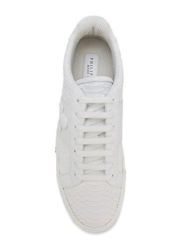 Philipp Plein Uomini Msc1012ple008n01 Sneakers In Pelle Bianca