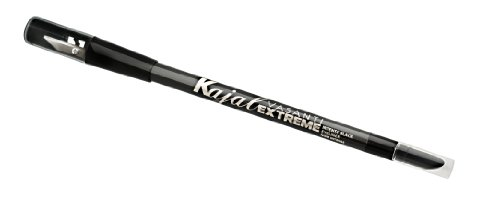 Top Vasanti Kajal Extreme - Intense Black Eyeliner Pencil with Built in Sharpener and Smudger (Waterproof, Paraben Free) for sale WbczMDJr
