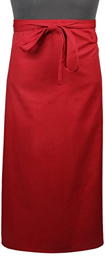 (Mercer Culinary M61130RD Genesis Bistro Apron, Red)