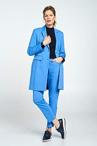 Promiss Manga Azul Traje De Mujer Para Larga Liso Chaqueta rxHwq7r