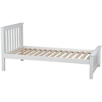 max u0026 lily solid wood twinsize bed white