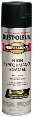 - Rust-Oleum 239107 Stops Rust Spray Enamel, Fast-Dry, Black Semi-Gloss, 15-oz. - Quantity 6