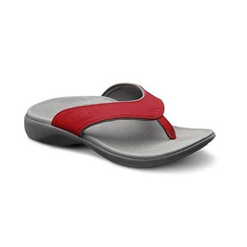Dr. Comfort Womens Shannon Diabetic Orthotic Thong Slipper: Red 9 (C/D) US