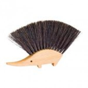Nessentials Hedgehog Table Brush, Natural Horsehair Bristles, 4-1/2 by 5-1/2 Inches, Germany