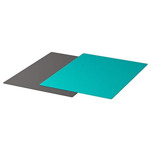 "Ikea KALAS Bendable Chopping Board, Dark Grey, Dark Turquoise, 28×36 cm (11×14 ¼"") Price & Reviews"